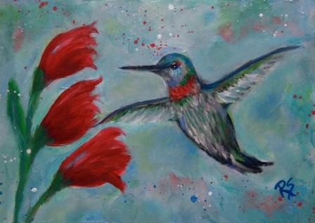 HummingbirdandBlooms