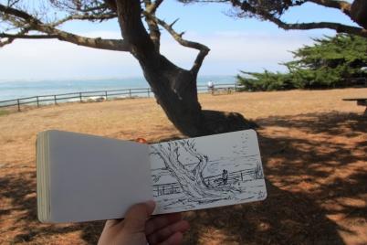 DrawingAtMoonstoneBeach