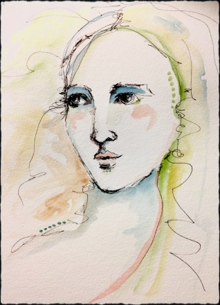 watercolorpenportrait